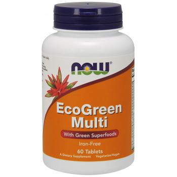 Мултивитамини Eco Green Multi 60/120 таблетки | Now Foods