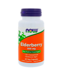 Elderberry Extract 500 мг 60 веге капсули | Now Foods