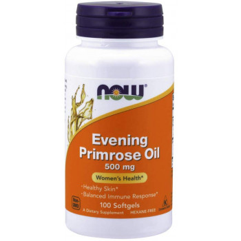 Evening Primrose Oil 500 мг 100 гел-капсули | Now Foods