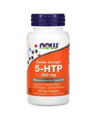 Double Strength 5-HTP 200 мг 60/120 веге капсули | Now Foods
