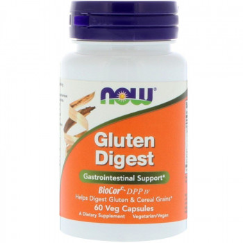 Gluten Digest 60 Veg Capsules Now Foods