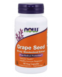 Grape Seed Antioxidant 60 мг 90 вегетариански капсули | Now Foods