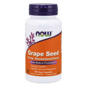 Grape Seed Antioxidant 60 мг 90 веге капсули | Now Foods