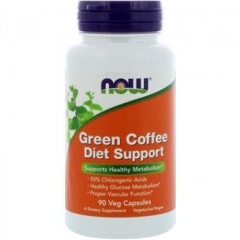 Green Coffee Diet Support 90 капсули | Now Foods