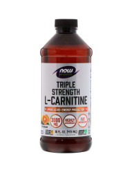 Triple Strength L-Carnitine течен 3000 мг 473 мл | Now Foods
