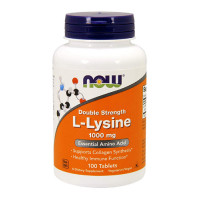 L-Lysine 1000 mg Double Strength100 Tablets | Now Foods