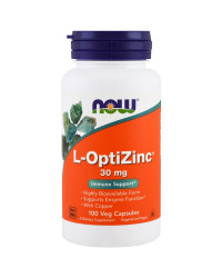 L-OptiZinc (Цинк) 30 мг  100 веге капсули | Now Foods