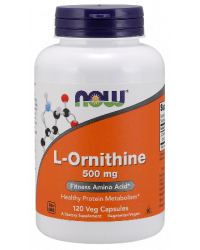 L-Ornithine 500 мг 60/120 капсули | Now Foods