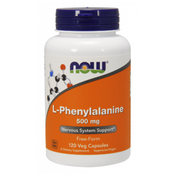L-Phenylalanine 500 мг 60/120 капсули | Now Foods