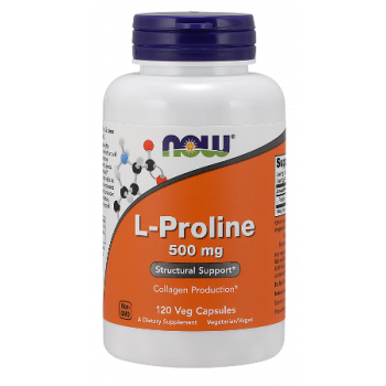 L-Proline 500 мг 120 капсули | Now Foods