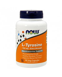 L-Tyrosine Extra Strength 750 mg 90 Capsules Now Foods