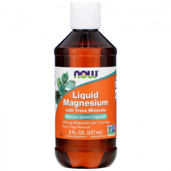Liquid Magnesium with Trace Minerals 237 мл | Now Foods