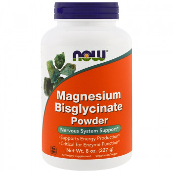 Magnesium Bisglycinate Powder 227 gr I Now Foods