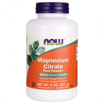 Magnesium Citrate Pure Powder 227 гр | Now Foods