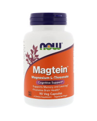 Magtein - Magnesium Threonate 90 капсули I Now Foods