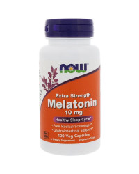 Melatonin 10 мг 100 вегетариански капсули | Now Foods