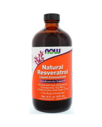 Natural Resveratrol Течен концентрат 473 мл | Now Foods