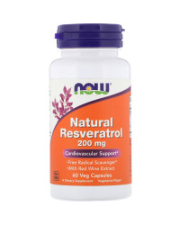 Natural Resveratrol 200 мг 60 капсули | Now Foods
