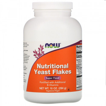 Nutritional Yeast Flakes 284 гр | Now Foods