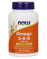 Omega 3-6-9 1000 мг 100/250 дражета Now Foods