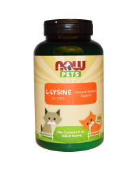 PET L-Lysine Powder (For Cats) 170 гр | Now Foods