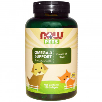 PET Omega 3 (cats & dogs) 180 softgels I Now Foods