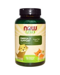 PET Omega 3 (For Cats & Dogs) 180 дражета | Now Foods