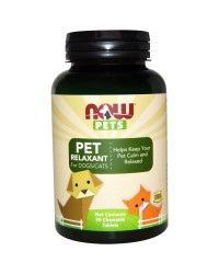 PET Relaxant (cats & dogs) 90 lozenges I Now Foods
