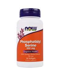 Phosphatidyl Serine 100 mg + Ginkgo 50 softgels I Now Foods