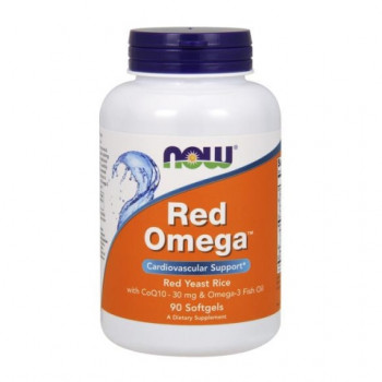 Red Omega 90 дражета | Now Foods