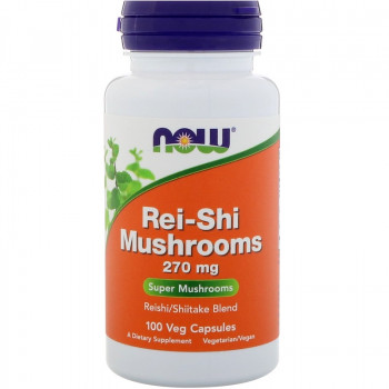 Шийтаке и Рейши (Rei-Shi Mushrooms) 270 мг 100 капсули | Now Foods