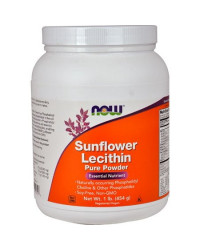 Sunflower Lecithin Pure Powder 454 g | Now Foods