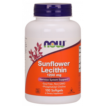 Sunflower Lecithin 1200 мг 100/200 дражета | Now Foods