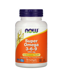 Super Omega 3-6-9 1200 мг 90 гел-капсули | Now Foods