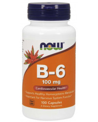 Vitamin B-6 100 мг 100/250 капсули | Now Foods