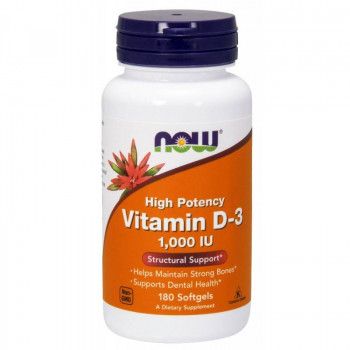 Vitamin D-3 1000IU 180 гел-капсули I Now Foods
