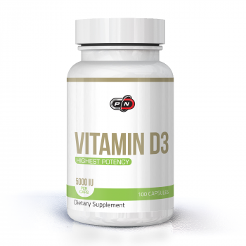 Vitamin D3 5000 IU 100 капсули | Pure Nutrition