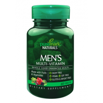 Men's Multi-vitamin Whole Food Enhanced 60 таблетки | Puremark Naturals