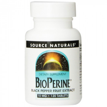 BioPerine 10 mg 120 Tablets Source Naturals