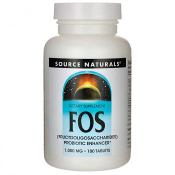 FOS (Fructooligosaccharides) 1,000 мг 100 таблетки | Source Naturals