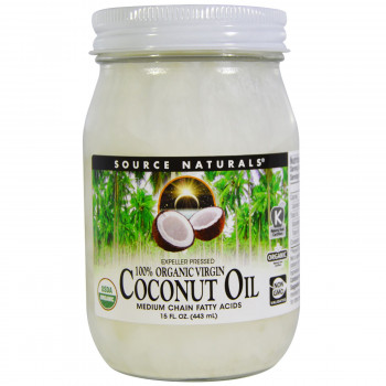 100% Organic Virgin Coconut Oil 443 ml Source Naturals