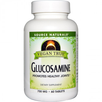 Vegan True Glucosamine 750 mg 60 Tablets Source Naturals