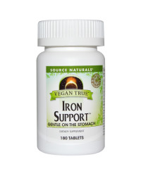 Vegan True Iron Support 180 tablets Source Naturals