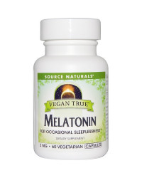 Vegan True Melatonin 3 mg 60 Veggie Capsules Source Naturals