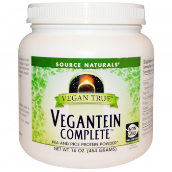 Vegan True Vegantein Complete Pea And Rice Powder 454 g Source Naturals