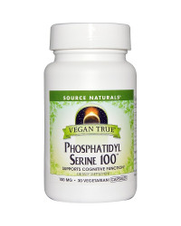 Vegan True Phosphatidyl Serine 100 30 Veggie Caps Source Naturals