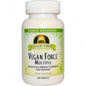 Vegan True Vegan Force Multiple 60 Tablets Source Naturals