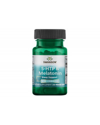 5-HTP & Melatonin 2 in 1 Formula 30 веге капсули | Swanson