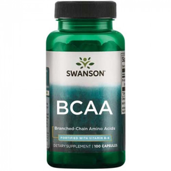 BCAA Branched-Chain Amino Acids 100 капсули | Swanson