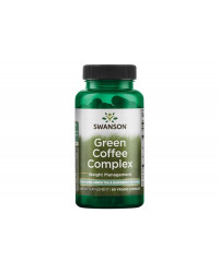 Green Coffee Complex with Green Tea & Raspberry Ketones 60 веге капсули | Swanson